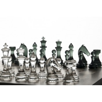 Complete Chess Set (marquetry)